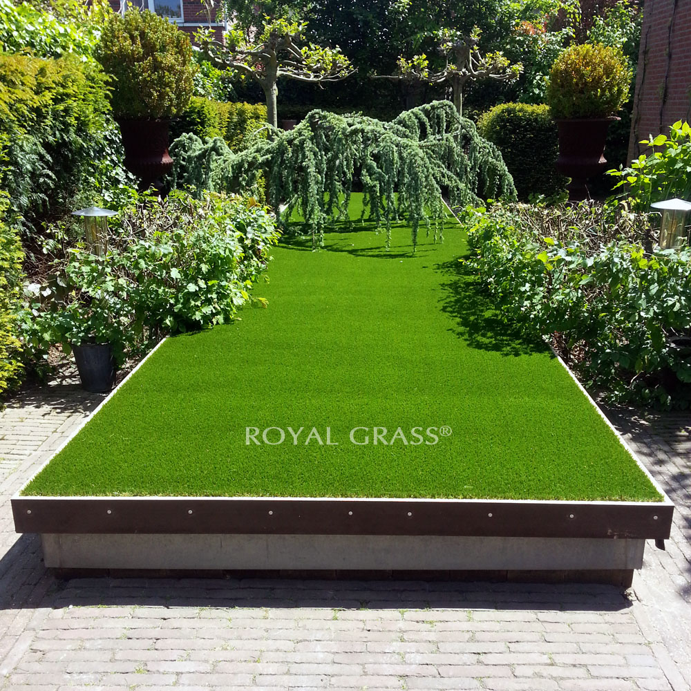 Pond covered with artificial grass for Artificial pond water